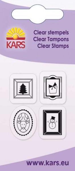 Clear Stempel Weihnachtsmotive im Rechteck-Rahmen 180009/2037