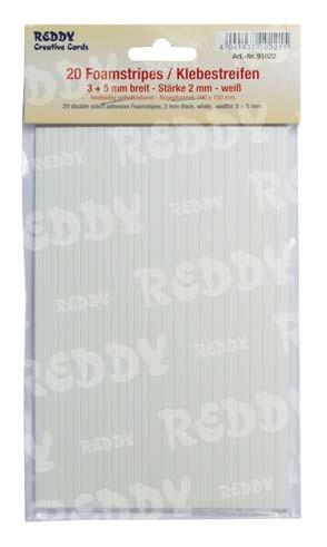 Foampads-Streifen 2 mm dick WEISS 91022
