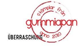 Gummiapan Stempelgummi ' Überraschung ' 18030109