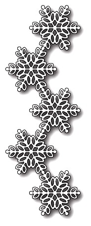Poppystamps Stanzform Schneeflocken-Border / Pickering Snowflake Border 1658
