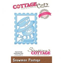 CottageCutz Stanzform Schneemann-Briefmarke / Snowman Postage CCE-429