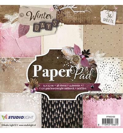 Studio Light Paper Pad 15 cm x 15 cm PPWD100