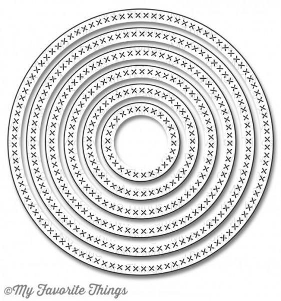 Dienamics Stanzform Cross-Stitch Circles STAX MFT-650