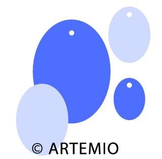 Artemio Happycut Stanzformen 6,8 x6,8+4,2x4,2 cm Anhänger oval 18022015