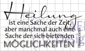"""AEH Design Stempelgummi """" Heilung ist eine Sache ... """" N1072-11"""