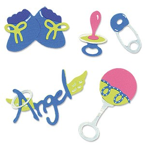 Sizzix Stanzform Sizzlits SMALL 4-er Baby Set # 3 655302