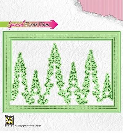 Nellie Stanzform Bäume in Rahmen / Pinetrees CBD004