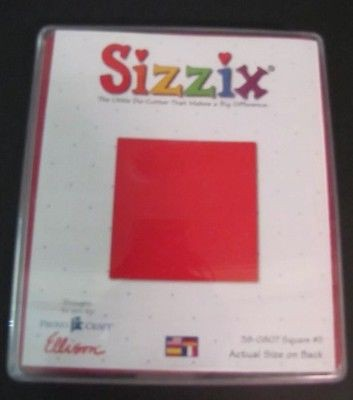 Sizzix Stanzform Originals LARGE Quadrat # 2 ( 6,3 cm ) / square # 2 38-0807