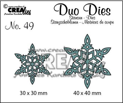 Crealies Duo Dies Stanzform Schneeflocken Nr. 6 Nr. 49 CLDD49