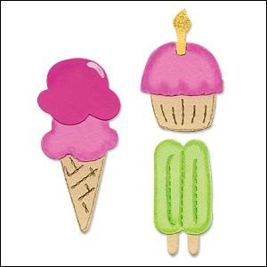 Allstar Muffin u. Eis / cupcake, ice cream cone A 10708