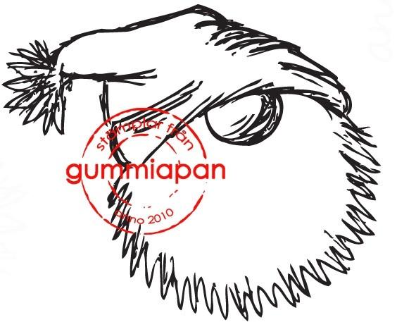 Gummiapan Stempelgummi Nikolauskopf mit Mütze mittel/Mellanstor Trolltomte 13100802