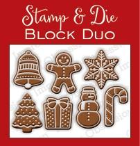 Impression Obsession Stanzform & Stempelgummi Lebkuchen-Plätzchen / Cookie Block DIE337-T