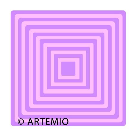 ARTEMIO Happycut Stanz-u. Prägeformen A 4 MEGA Quadrate 18034001