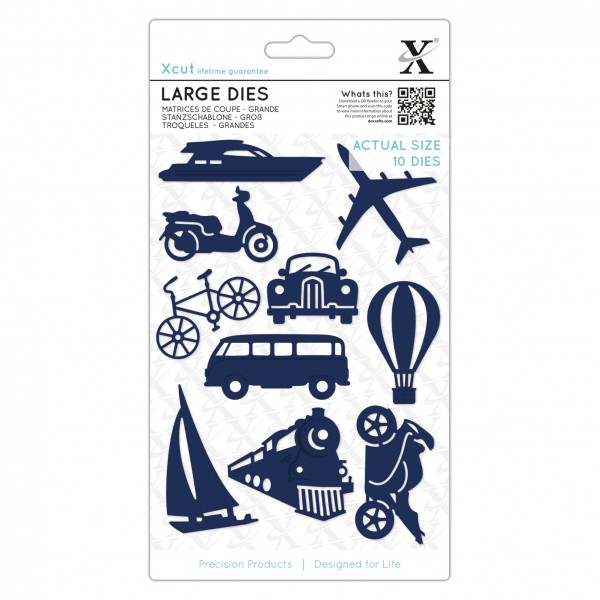 XCut Stanz- u. Prägeform Flugzeug, Boot,Auto,Motorrad, Zug & Roller /Planes, Trains & Automobiles XC