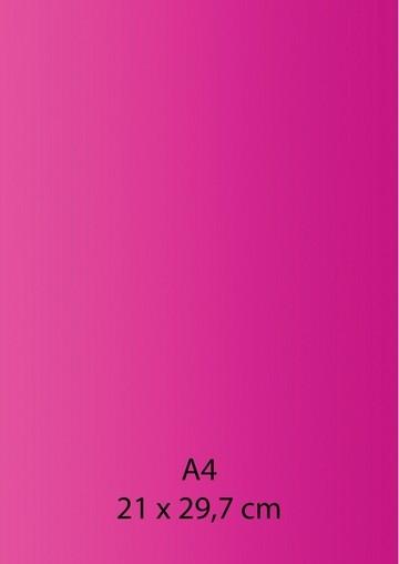Pearl Papier A 4 HELL-ROSA / Knall-ROSA mit Klebefolie 652000/