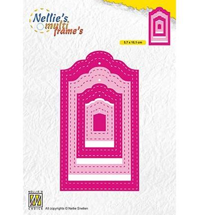 Nellie Stanz- u. Prägeform Anhänger mit Nähnaht innen u. außen / Stitched Tags MFD133