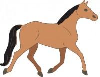 Cheery Lynn Stanzform Pferd trabend / trotty horse A173