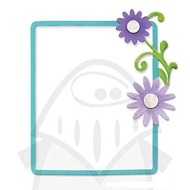 Sizzix Stanzform BIGZ Blumen-Rahmen/frame rectangle w/flowers & vine 655976