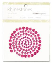Rhinestones / Glitzersteine selbstklebend PINK SB702