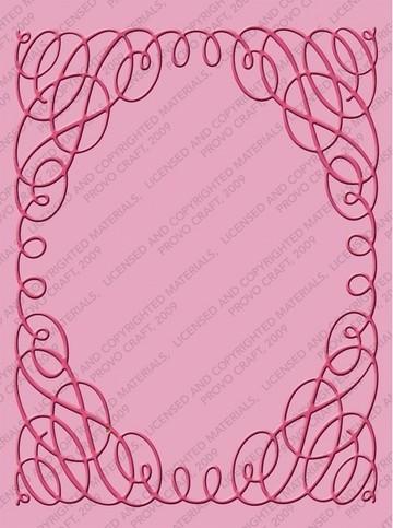 Cuttlebug Prägefolder Scrollwork 2000216