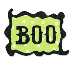 Sizzix Original L Wort BOO mit Rahmen phrase BOO w/frame 655 5