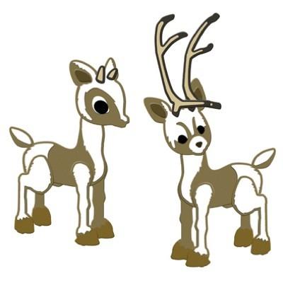Spellbinders Stanzform Rentiere / reindeer poseability S4-107