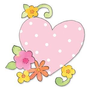 BIGZ Herz mit Blumen u. Blättern/heart w/flowers & vine 655 831