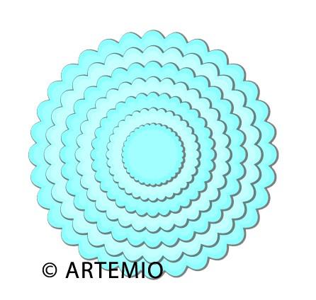 Artemio Happycut Stanz-u.Prägeformen Kreise gewellt 18043005