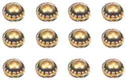 Nieten RUND GOLD selbstklebend / dome studs antique brass 12622