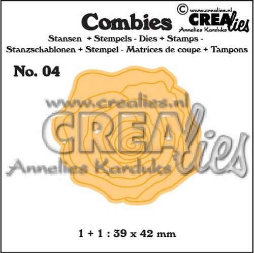 Crealies Stanzform-u. Stempelset Nr. 3 Rose groß CLCB04
