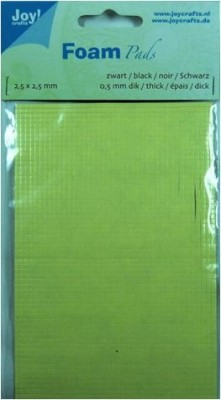Klebepads schwarz 2,5 x 2,5 mm Dicke 1,5 mm 6500-0062