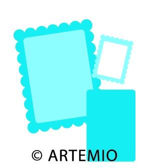 Artemio Happycut Stanzformen 6,8x6,8 + 4,2x4,2 cm Rahmen#18 18022009