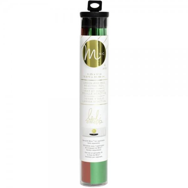 Heidi Swapp MINC Folie gerollt ROT & GRÜN / Red & Green Reactive Foil Combo Pack 370187