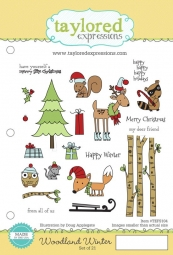 Taylored Expressions Cling-Stempel mont. Woodland Winter TEFS104