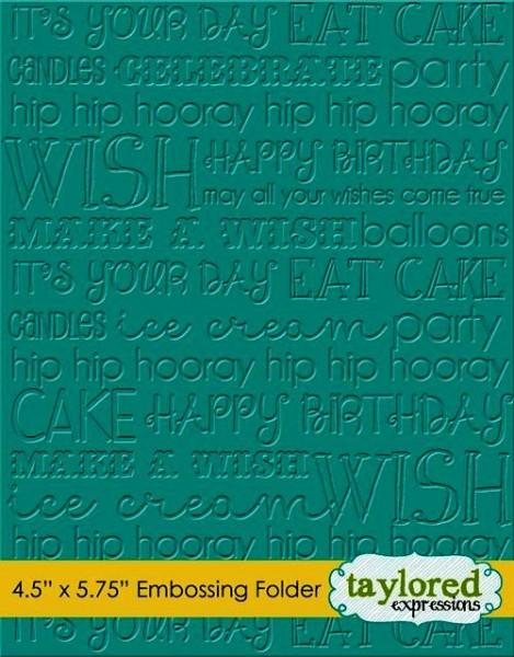 Taylored Expressions Prägefolder Graphic Impressions Birthday TEEF30