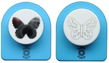 Nellie Floral Punch Motivstanzer u. Präger Duo Schmetterling jumbo FLP017 ( hellblau )