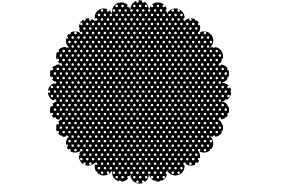 Memory Box Stempel Kreis gewellt gepunktet klein/small scalloped