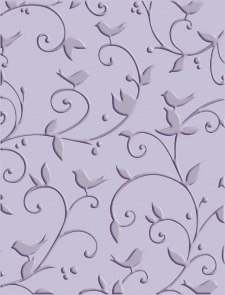 Cuttlebug Prägefolder Vögel u. Swirls 37-1609