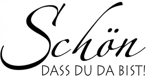 """Stempel """" SCHÖN, DASS DU DA BIST """" 1812213 / 28-422-000"""