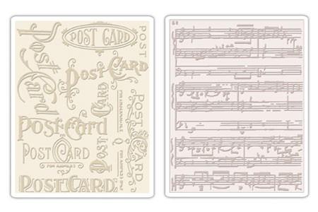 Sizzix Prägefolderset Postcard & Sheet Music 656946
