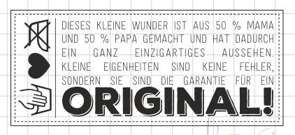 AEH Design Stempelgummi Original-Baby 1259 F