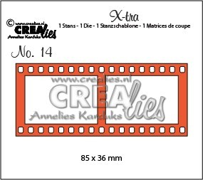 Crealies Stanzform X-tra Nr.14 Filmstreifen groß CLXTRA14