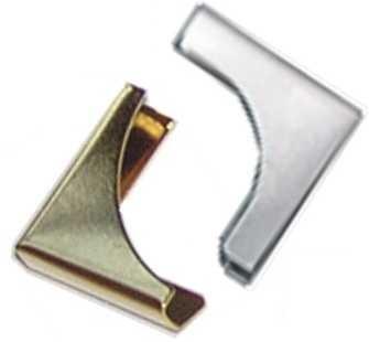 Metallecke LARGE SILBER Halbmond 10567