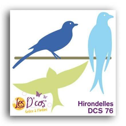 Toga Stanzform Schwalben / Hirondelles DCS76