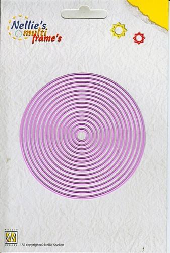 Nellie Stanz-u. Prägeform Multi Kreise/Straight round MFD055(ro