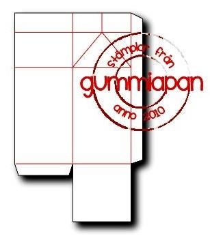 Gummiapan Stanzform Milchkarton / Mjölkkartong D180216