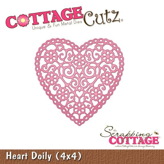Herz filigran / heart doily SC CC4x4-155