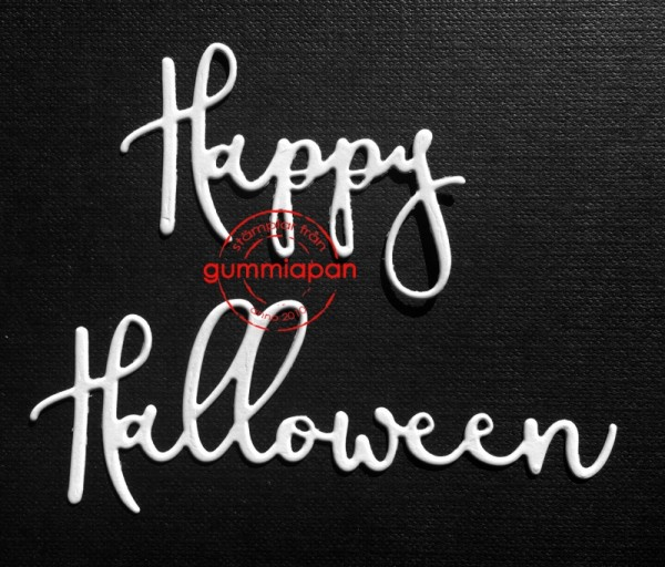 Gummiapan Stanzform Wort ' Happy Halloween ' D160918