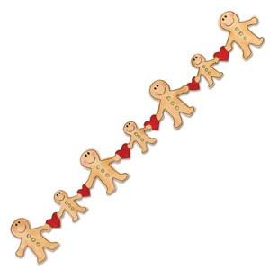 Sizzix Stanzform Sizzlits Border Lebuchenmännchen mit Herzen / gingerbread 655529