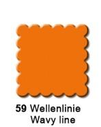 Motivstanzer mittel Quadrat gewellt 1,9 cm (orange) UR 1948 00 5